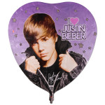 Justin Bieber Giant Heart Foil Balloon