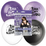 Justin Bieber 12'' Latex Birthday Balloons