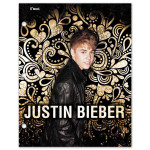 Justin Bieber Gold Heart & Paisley Folder