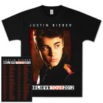 Justin Bieber  Believe 2012 Fall Tour T-Shirt
