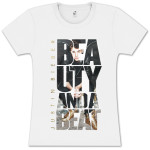 Justin Bieber Beauty Beat Photo Girlie T-Shirt