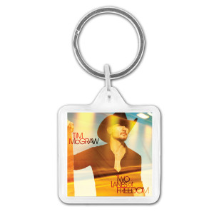 Tim McGraw Two Lanes of Freedom Keychain