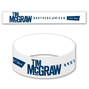 """Tim McGraw """"Brothers of the Sun"""" Tour Wristband"""