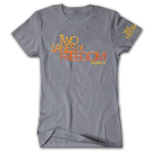 Tim McGraw Two Lanes of Freedom Ladies T-shirt