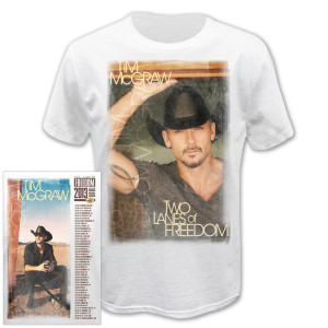 Tim McGraw Two Lanes of Freedom Tour T-shirt