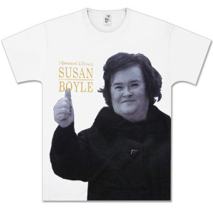 Susan Boyle Dreamed Half Tone Side Photo T-Shirt