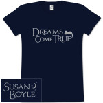 Susan Boyle Half Moon Missy Navy T-Shirt