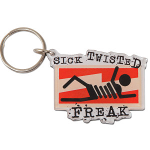 Glenn Beck Sick Twisted Freak Keychain