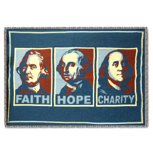 Glenn Beck Faith Hope Charity Cotton Throw
