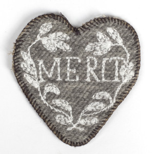Grey Merit Heart Patch