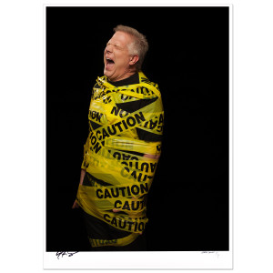 Glenn Beck Signed Caution Print