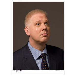 Glenn Beck Signed Tear Print