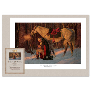 The Prayer at Valley Forge Gallery Print with Certificate