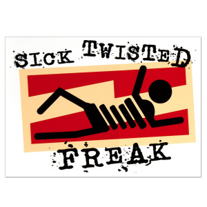 Glenn Beck Sick Twisted Freak Sticker