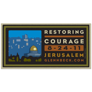 Glenn Beck Restoring Courage Bumper Sticker