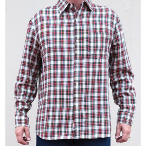 Edward Janssen American Cut Shirt in Red and White Plaid