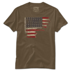 1791 D-Day Flag Shirt