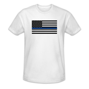 #BlueLivesMatter White T-shirt