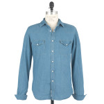1791 Light Indigo Washed Denim Western Shirt