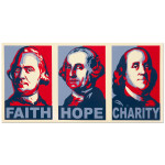 Glenn Beck Faith, Hope, & Charity Bumper Sticker