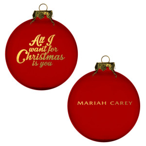 All I Want For Christmas Red Ornament