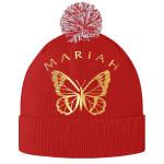 Mariah Carey Butterfly Pom Pom Beanie