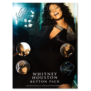 Whitney Houston Button Pack