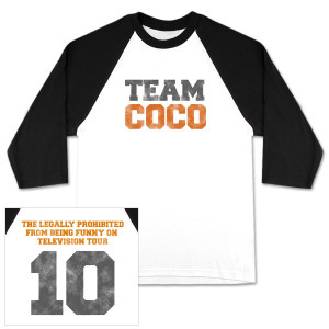 Conan O'Brien Tour Team Coco Raglan