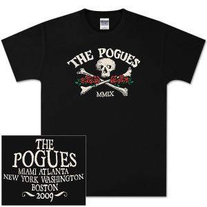 The Pogues Black Skull Roses T-Shirt - East Coast