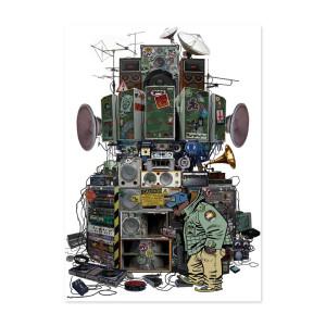 Exclusive - Gorillaz Russell's Hip Hop Machine Lithograph