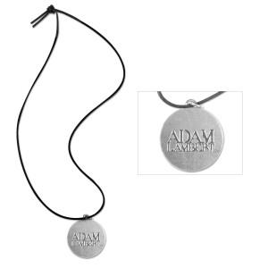 Adam Lambert Logo Disc Pendant