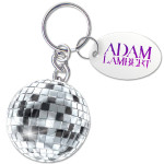 Adam Lambert Disco Ball Keychain