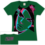 Adam Lambert Stars Green Girlie T-Shirt