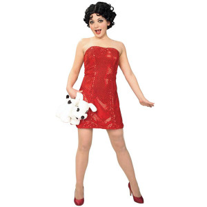Betty Boop Mini Sequins Dress w/ Wig