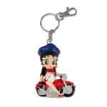 Betty Boop Biker 3D Keychain