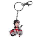 Betty Boop Biker Enamel Keychain