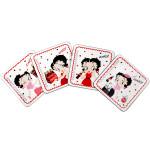 Betty Boop Coke 4pc Wood Coaster Set