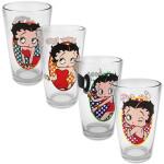 Betty Boop 4pc 16oz Pint Glass Set