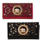 Betty Boop Wallet with Circled Sparkling Rhinestones