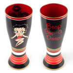Betty Boop - 20oz. 2 pc. Hand Painted Glass