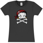 Betty Boop Pirate Juniors T-Shirt