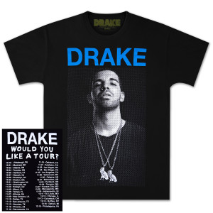 Drake Would You Like A Tour DB T-Shirt - black