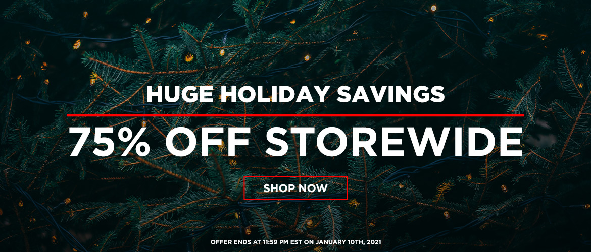 Holiday Savings: 75% Off Storewide!
