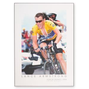 2004 Tour de France - Lance Armstrong at L'Alpe d'Huez Framed Poster