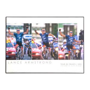 2001 Tour de France - Lance at Alpe d'Huez Framed Mini Poster