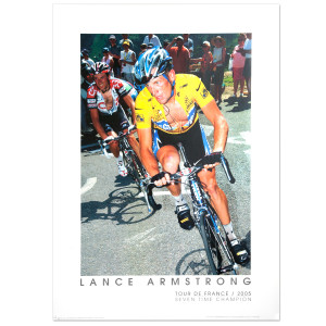 2005 Tour de France - Lance Armstrong at the Col de Paiheres Framed Poster