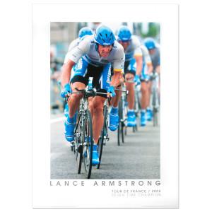 2005 Tour de France - Lance Armstrong, Team Time Trial Framed Poster