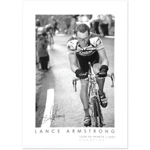 2000 Tour de France - Lance Armstrong at Hautacam Poster