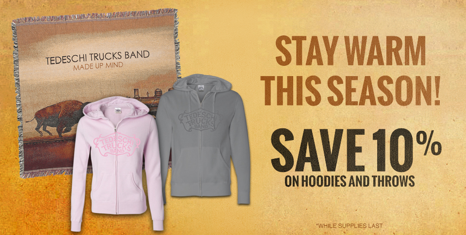 10% off Hoodies and Throws!