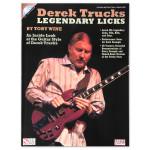 Derek Trucks Legendary Licks Songbook with CD